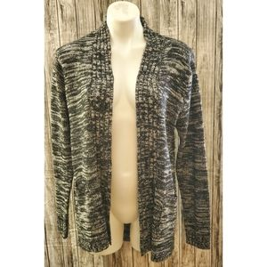 Jason Maxwell black & white long cardigan sweater